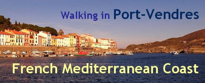 walking in port vendres french mediterranean coast
